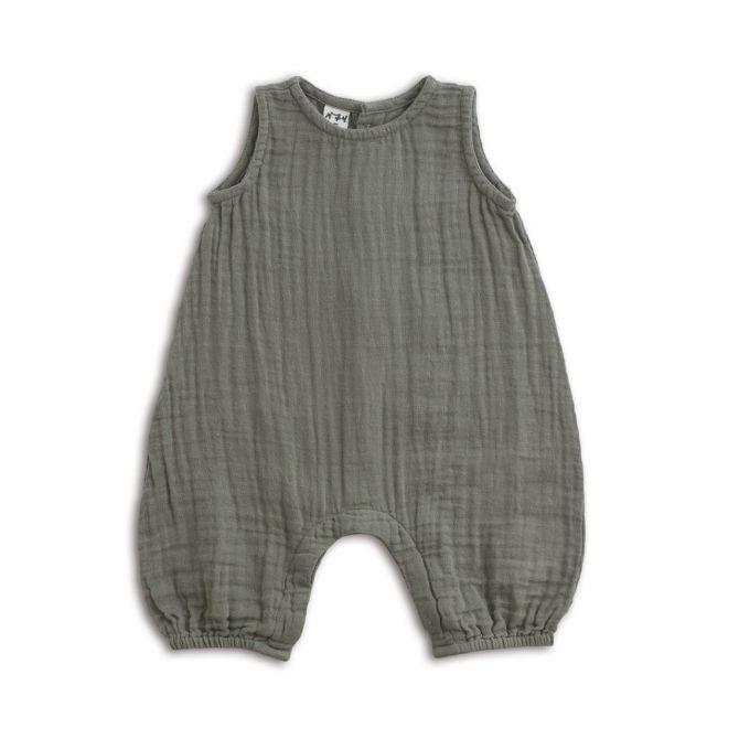 Baby Combi Stef silver grey