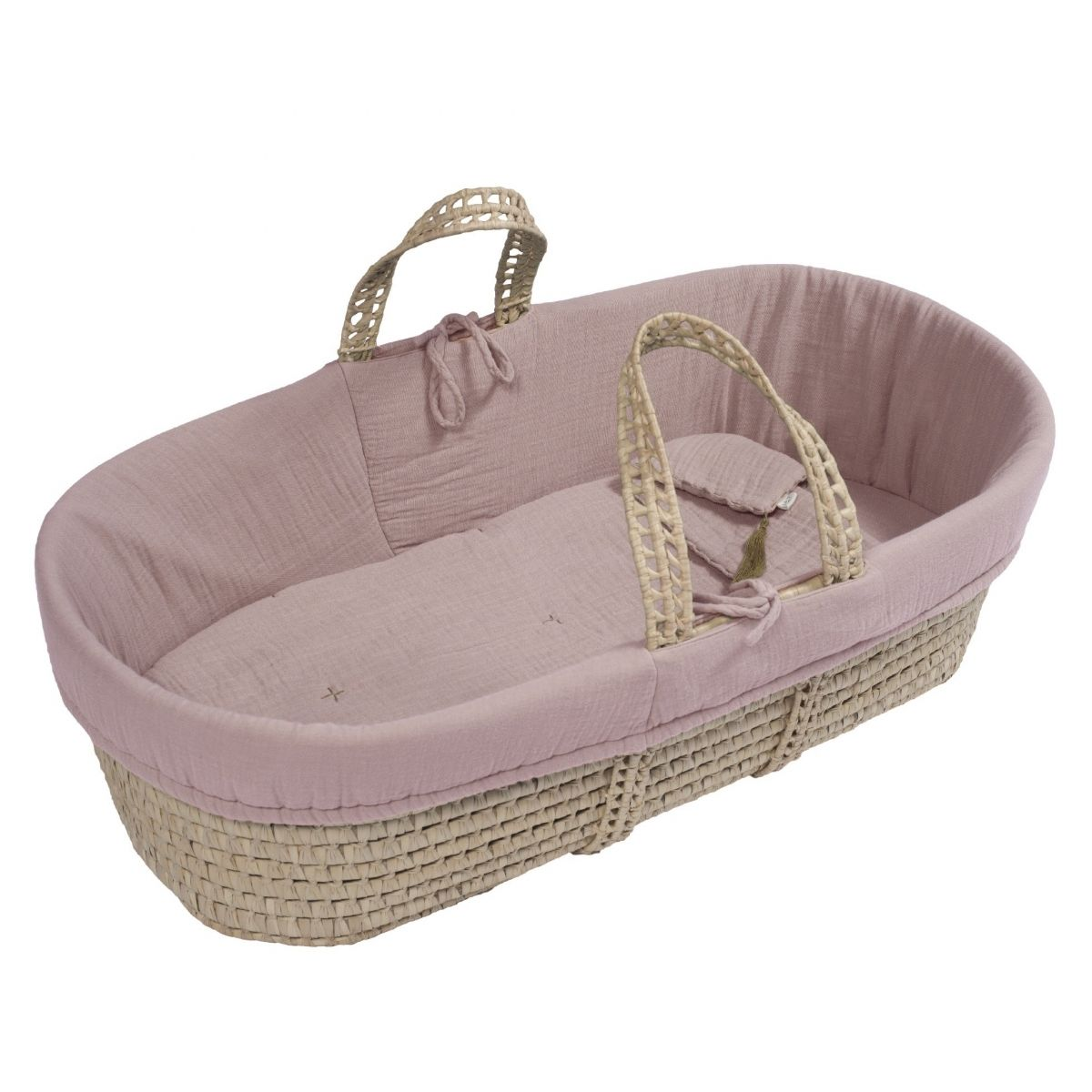 Basket Moses bed linen dusty pink