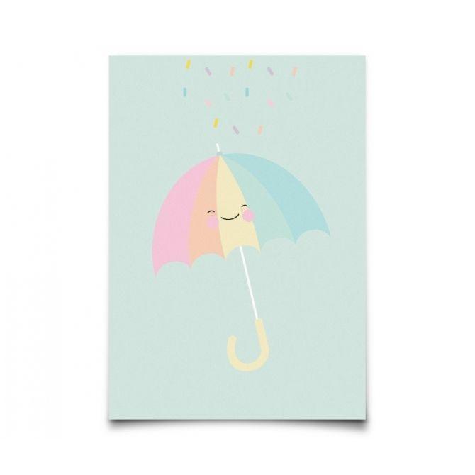 Postcard Pastelette Umbrella