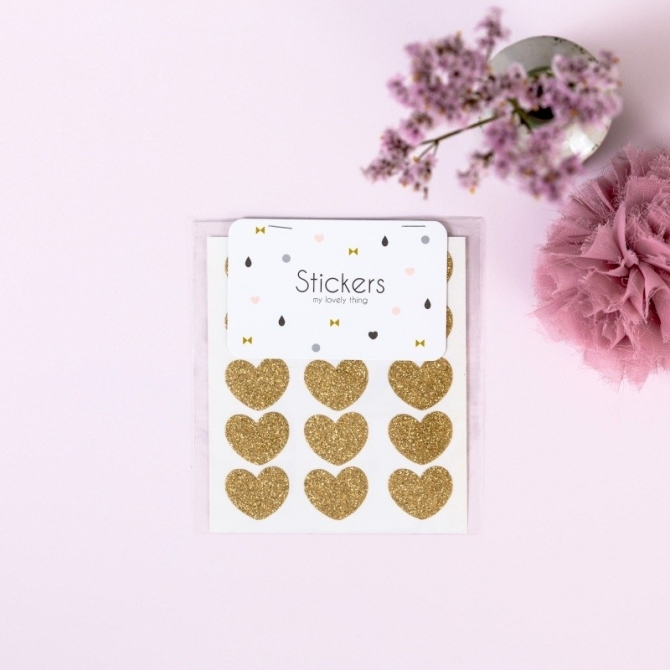 Stickers Heart gold