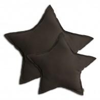 Poduszka gwiazda Star cushion taupe ciemnozielona
