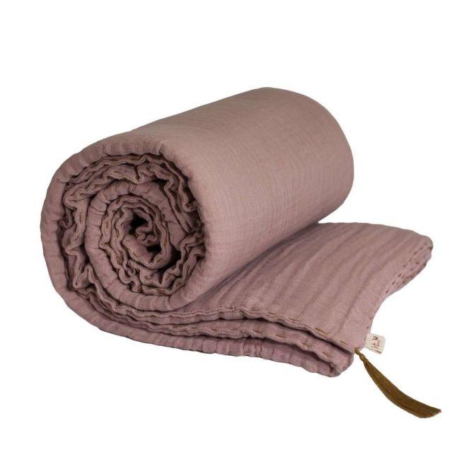 Kocyk Winter Blanket dusty pink przygaszony róż