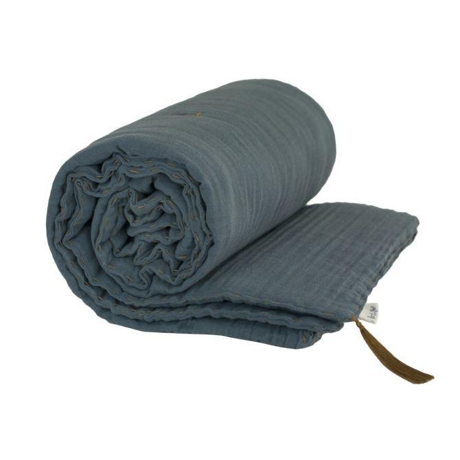 Kocyk Winter Blanket ice blue szaroniebieski