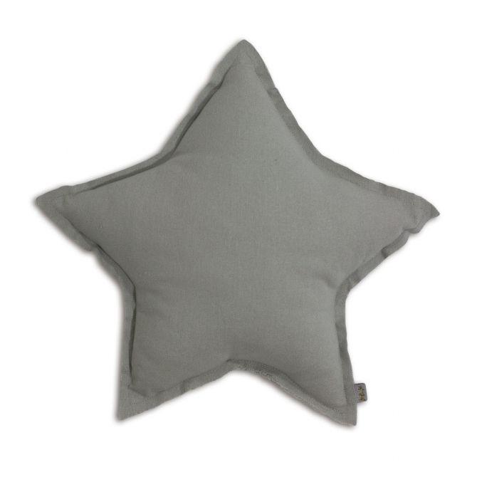 Poduszka gwiazda Star cushion silver grey szara