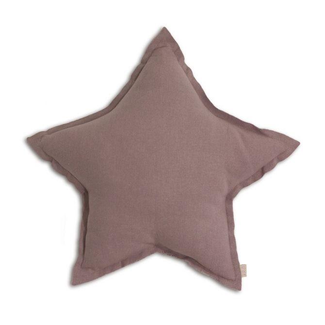 Poduszka gwiazda Star cushion dusty pink przygaszony róż