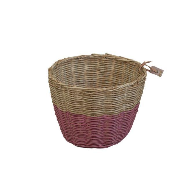 Basket rattan silver grey