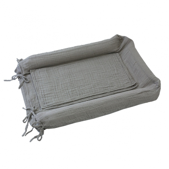 Changing Pad cover square silver grey