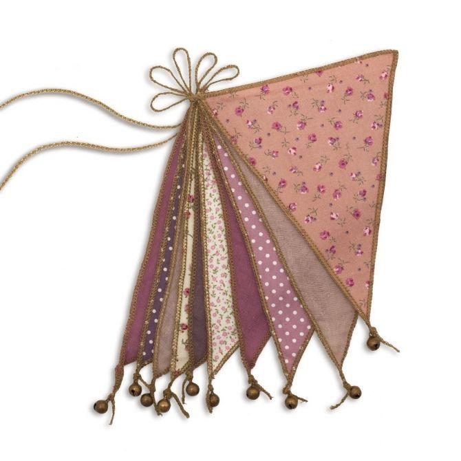 Girlanda Garland Bunting mix pink różowa