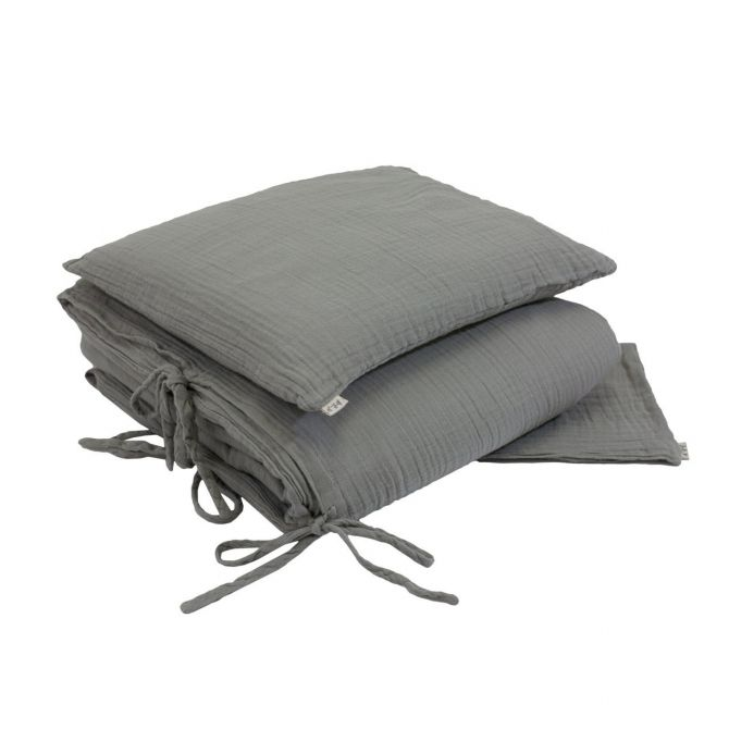 Pościel Duvet Cover Set silver grey szara