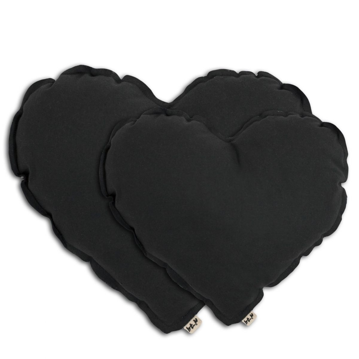 Heart cushion dark grey