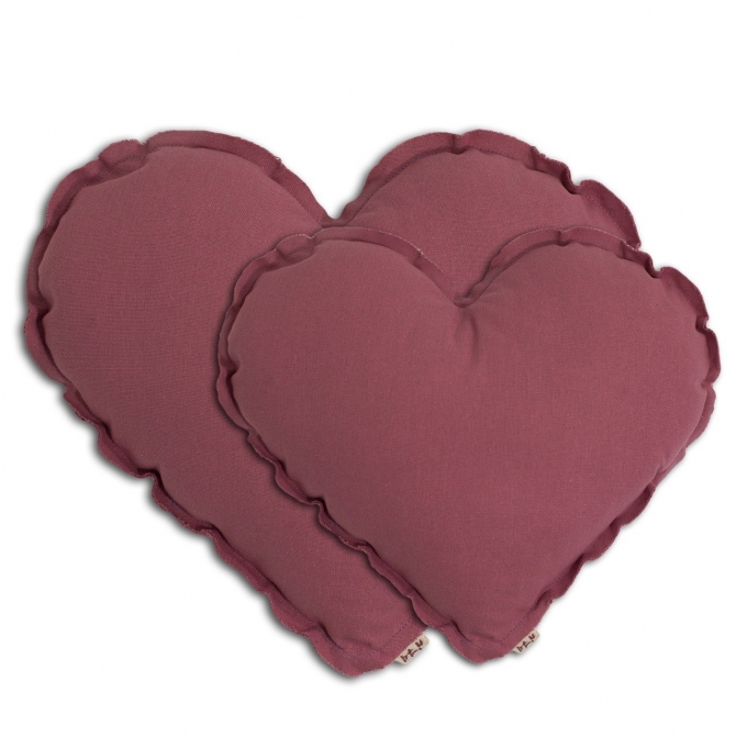 Heart cushion rose