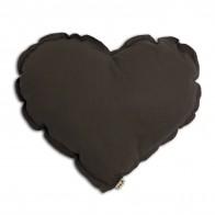 Heart cushion taupe