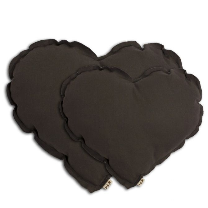 Heart cushion taupe