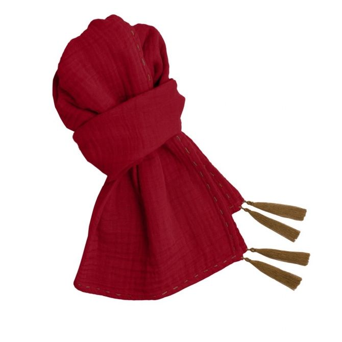 Scarf for mum ruby red