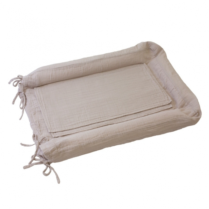 Przewijak Changing Pad cover square kwadratowy powder cielisty