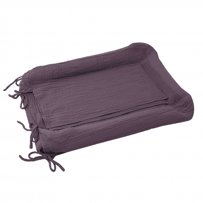 Changing Pad cover square dusty lilac