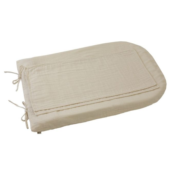 Changing Pad cover round natural
