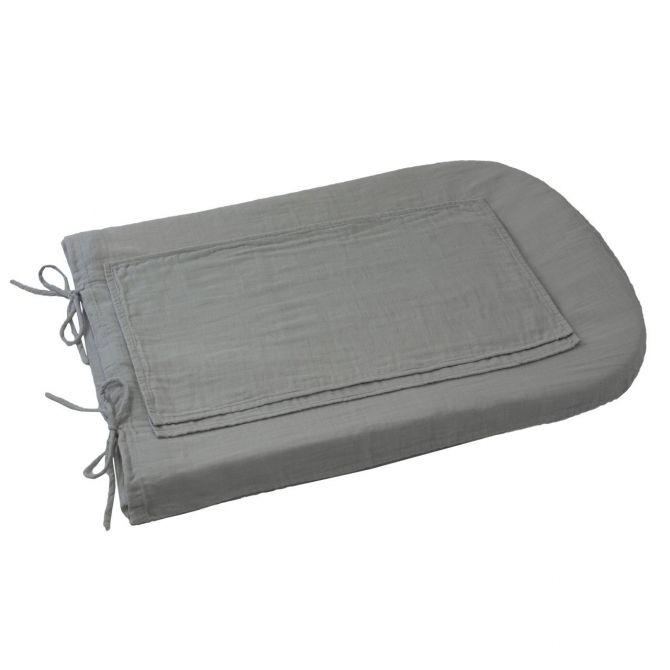 Changing Pad cover round silver grey
