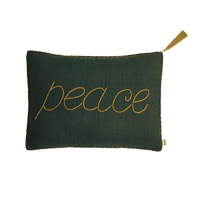 Cushion cover Message flashy taupe