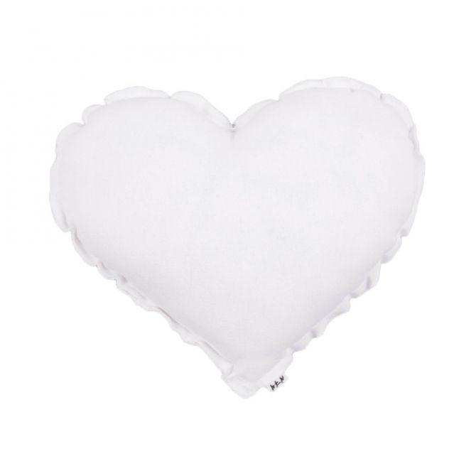 Heart Cushion white