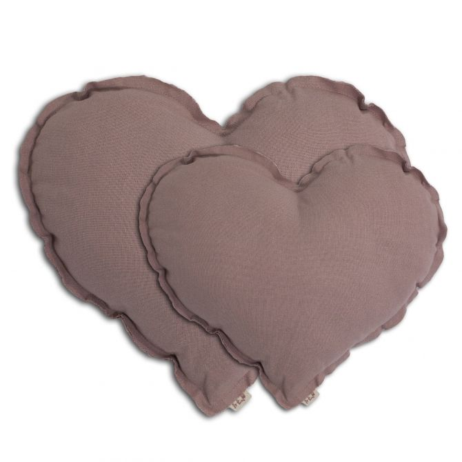 Heart Cushion dusty pink