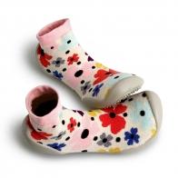Slipper Socks Garden Party colorful flowers
