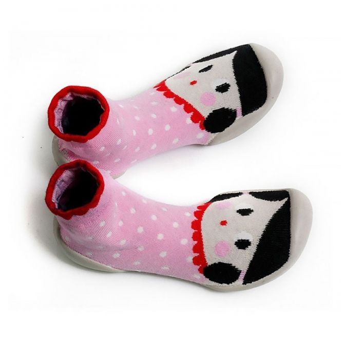 Slipper Socks Chaussons Fete BEST pink