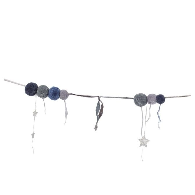 Numero 74 Garland Pompom mix blue