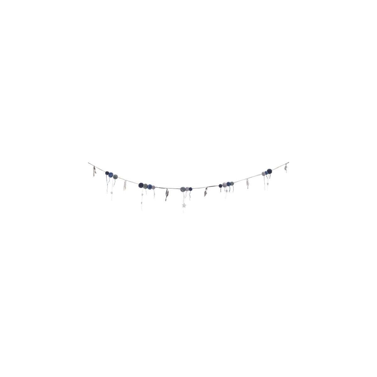 Girlanda Pompom mix niebieska - Numero 74