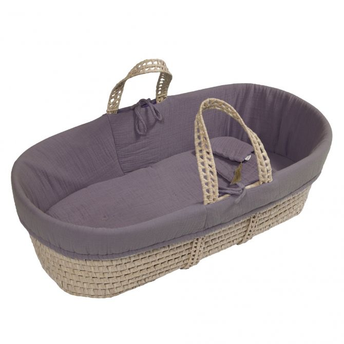 Moses Basket bed linen dusty lilac - Numero 74