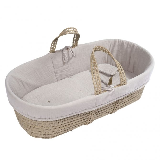 Numero 74 Moses Basket bed linen powder