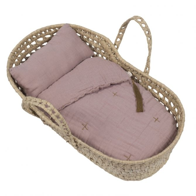 Numero 74 Doll basket bed linen dusty pink