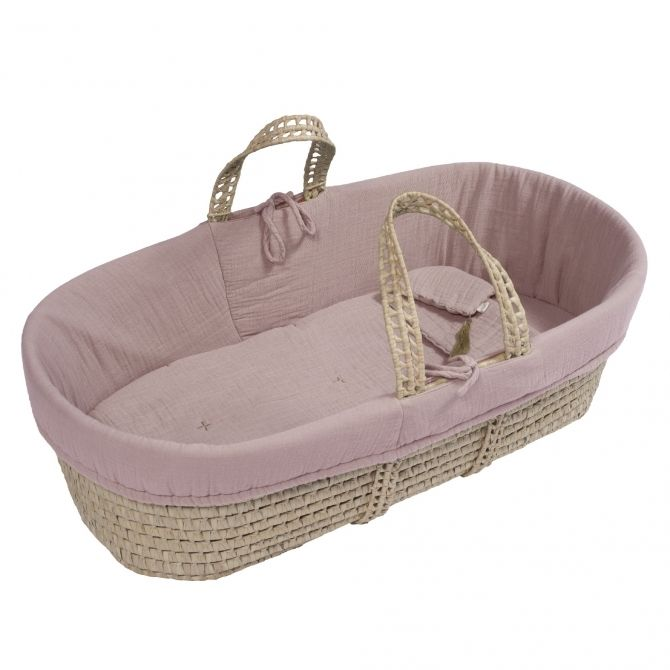 Moses Basket bed linen dusty pink - Numero 74