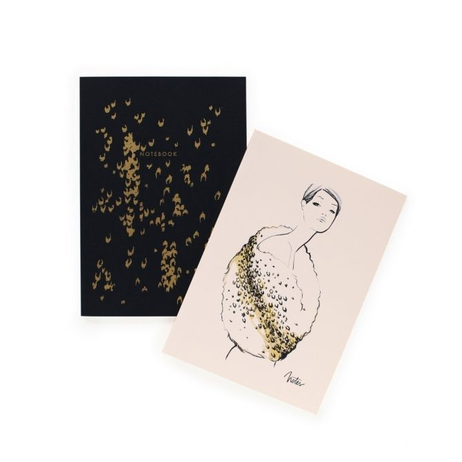 Rifle Paper Co. Set of 2 notebooks Leopard