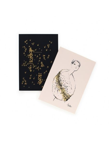 Set of 2 notebooks Leopard - Rifle Paper Co.