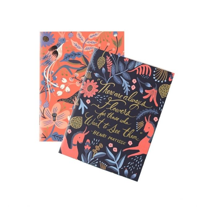 Set of 2 pocket notebooks Folk - Rifle Paper Co.