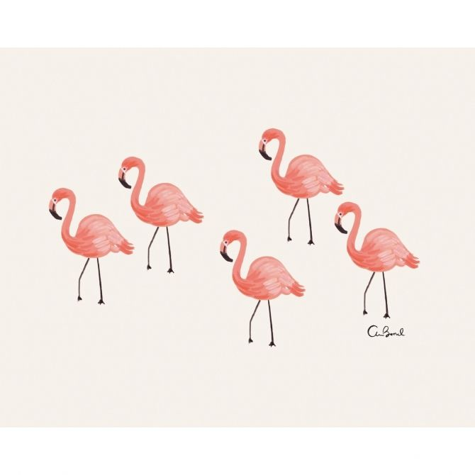 Rifle Paper Co. Art-print Flamingo pink