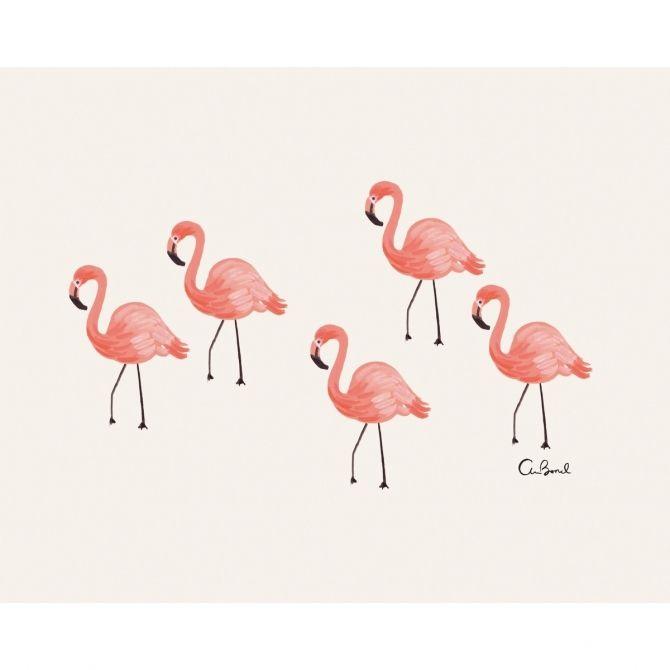 Rifle Paper Co. Obrazek Flamingo różowy