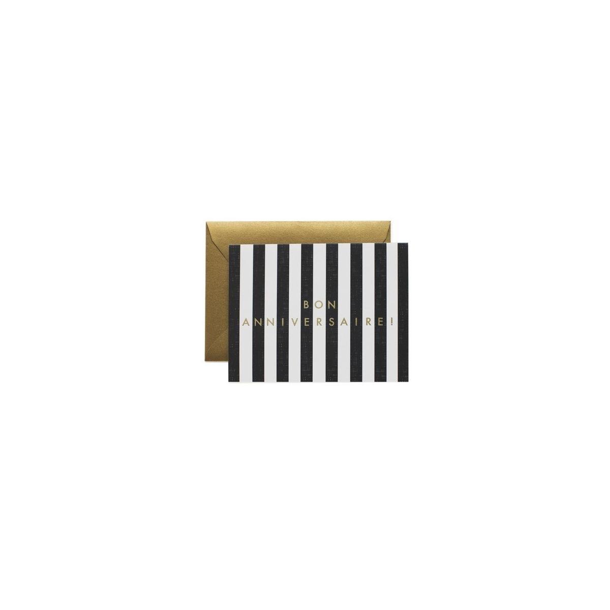 Kartka Stripes biało-czarna - Rifle Paper Co.