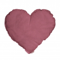 Heart Cushion rose with white dots