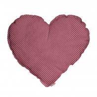 Poduszka Serce różowa w białe kropki