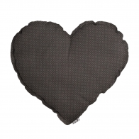 Heart Cushion taupe with small dots