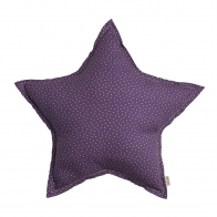 Star cushion purple with beige stars