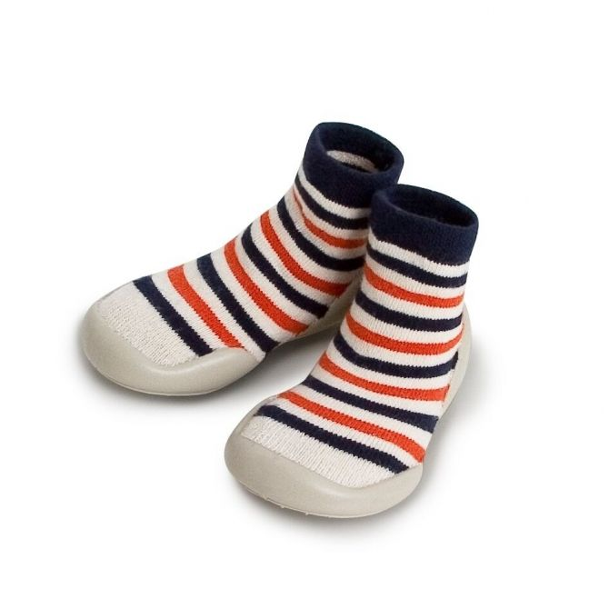Collégien Slipper Socks Marine Stripes colorful stripes