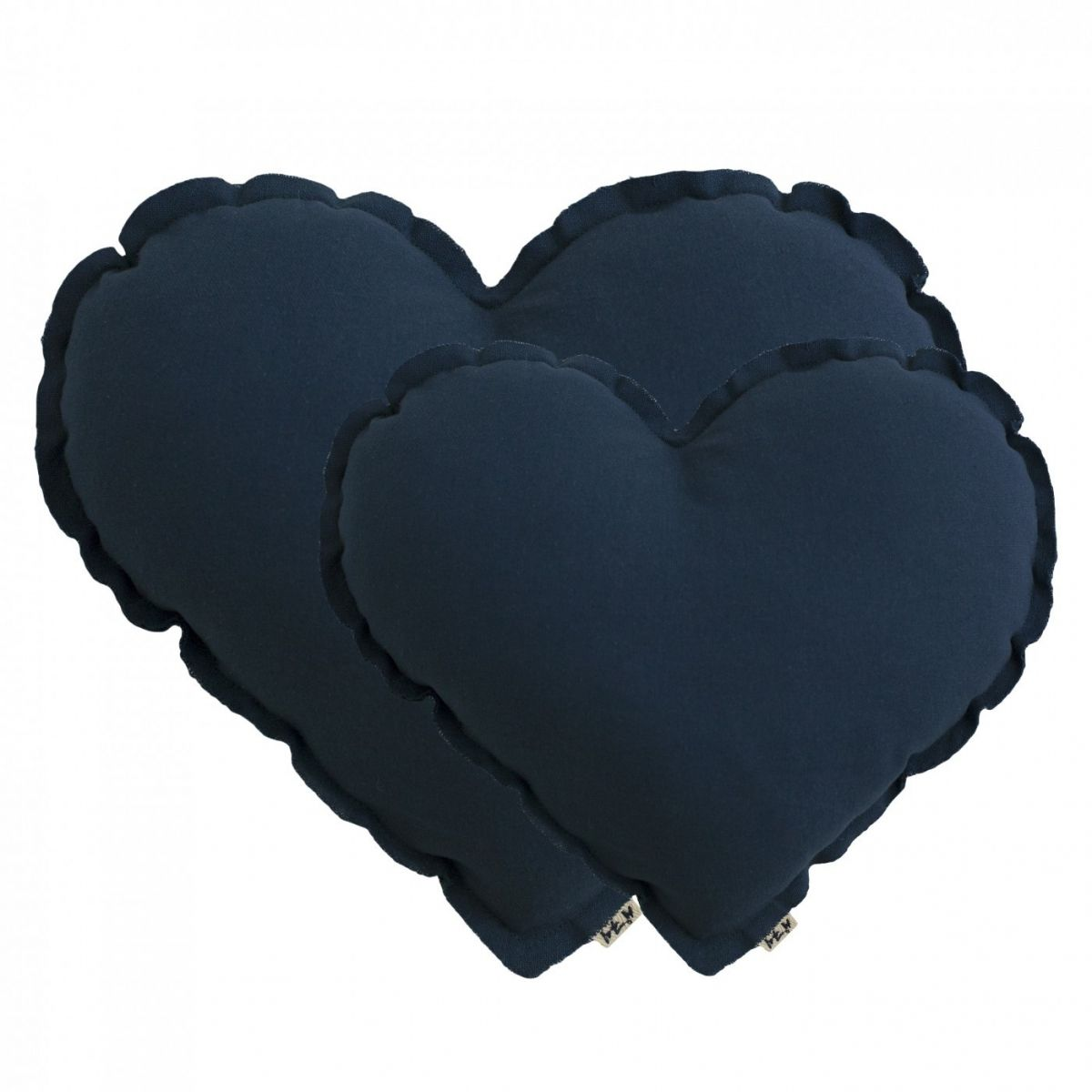 Heart Cushion night blue with white stars - Numero 74