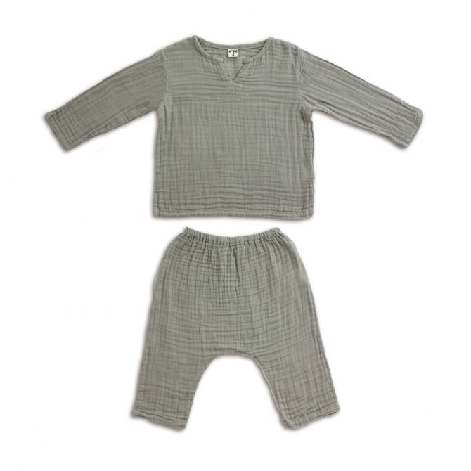Komplet Zac koszulka & spodnie szary - Numero 74