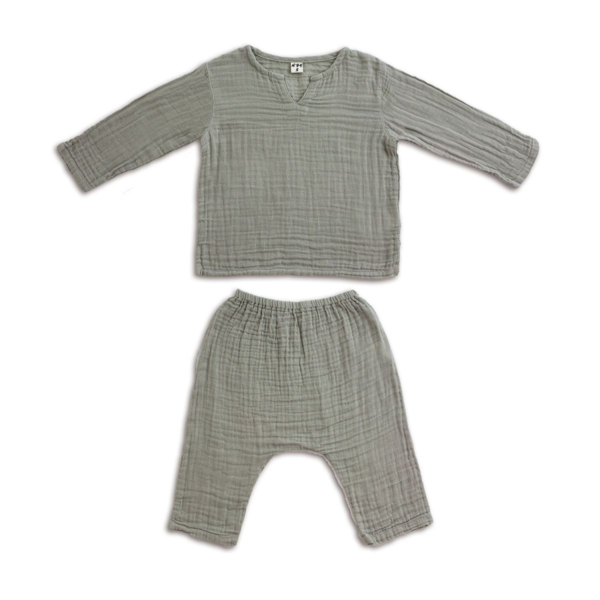 Numero 74 Komplet Zac koszulka & spodnie szary