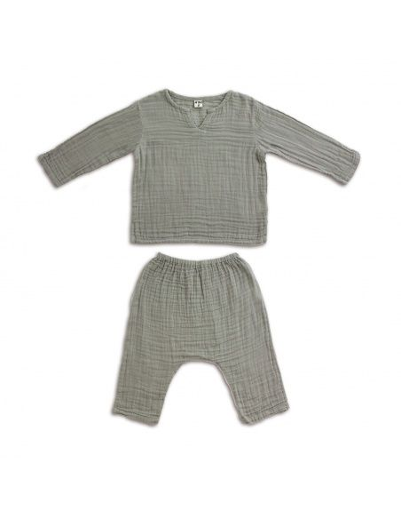 Suit Zac shirt & pants grey - Numero 74