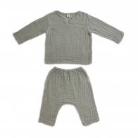 Komplet Zac koszulka & spodnie szary