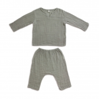 Suit Zac shirt & pants grey
